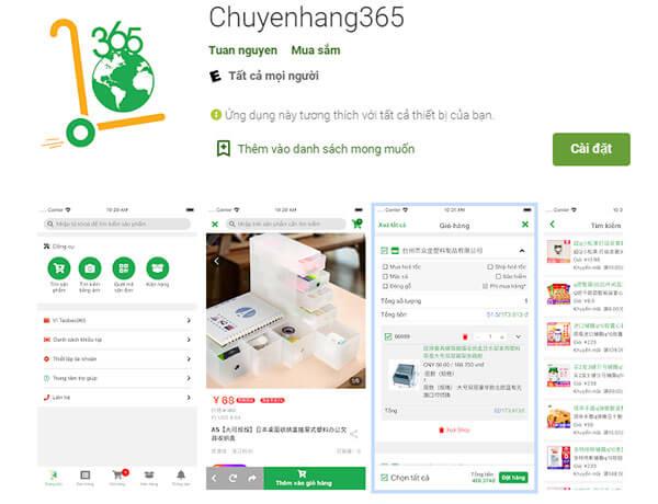 Bước 1: Cài đặt App đặt hàng Taobao của chuyenhang365